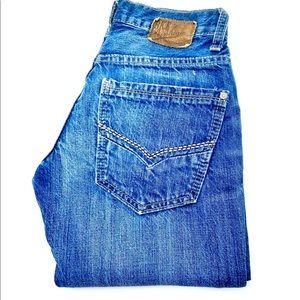 BKE Vintage Mechanic Women's Boot Cut Jeans, 25 S